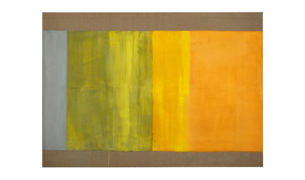 Lichtgewicht I, 2016, Pigmente auf Lwd,140x200 | peso della luce I, pigmenti su tela,140x200