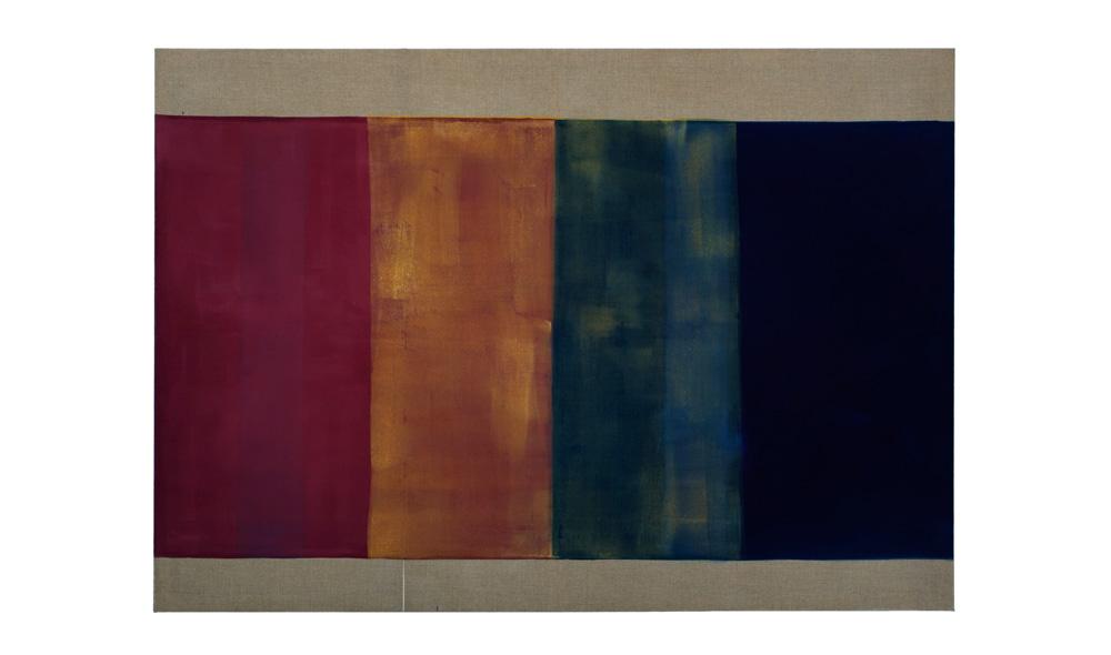 Lichtgewicht II, 2016, Pigmente auf Lwd,140x200 | peso della luce II, pigmenti su tela,140x200