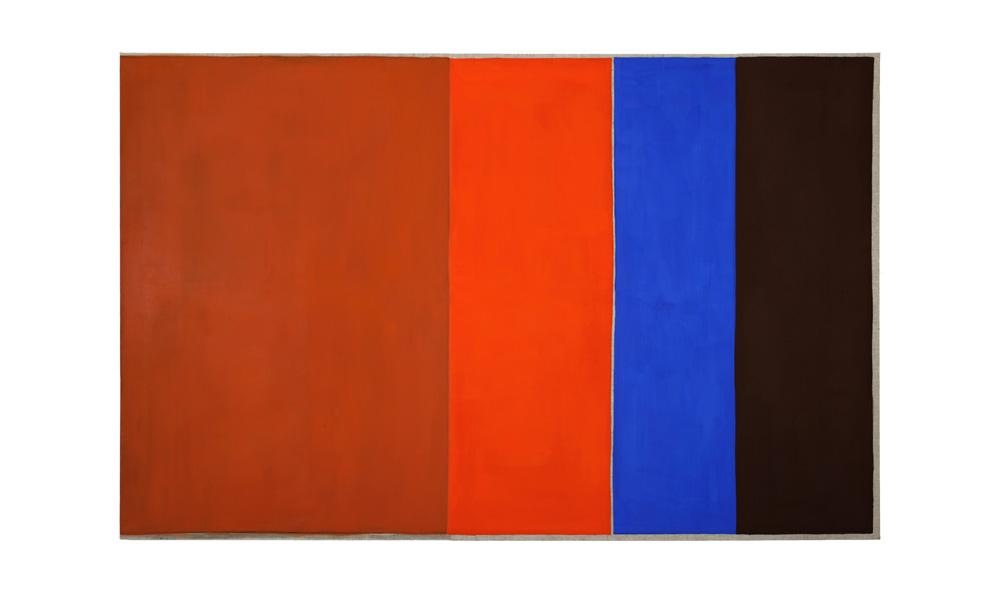 Fieber, 2015, Pigmente auf Lwd, 220x140cm | febbre, pigmenti su tela, 220x140cm