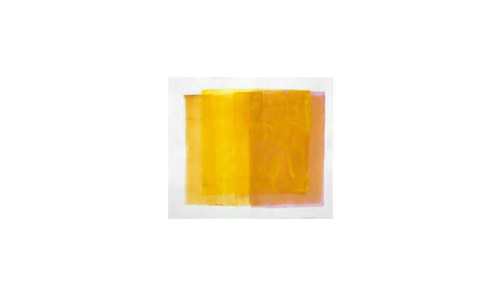 gelb, 2015, Pigmente auf Papier, 46x53 | giallo, pigmenti su carta, 46x53