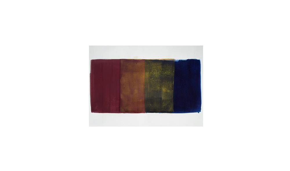 Studie zu Lichtgewicht II, 2016, Pigmente auf Papier, 32x45 | studio sul peso della luce II, 2016, pigmenti su carta, 32x45