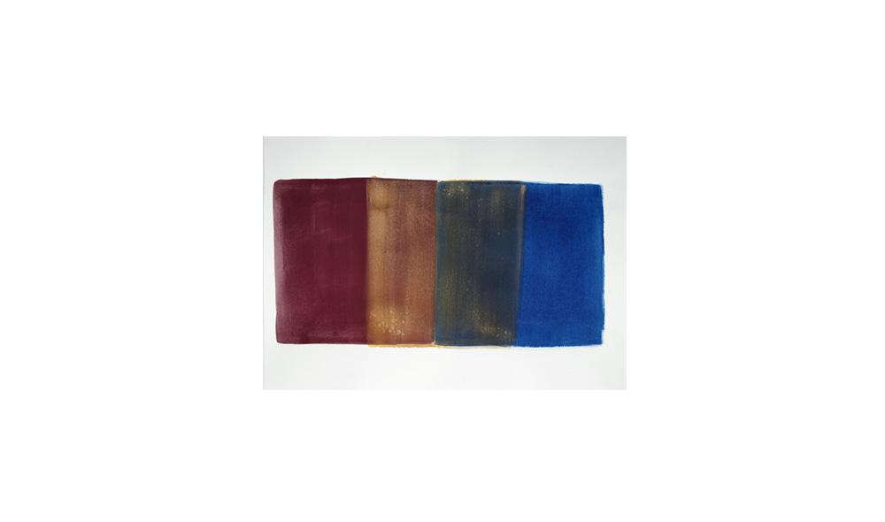 Studie zu Lichtgewicht II, 2016, Pigmente auf Papier, 32x45 | studio sul peso della luce II, pigmenti su carta, 32x45