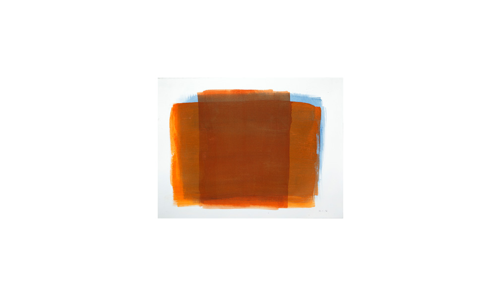 orange, 2016, Pigmente auf Papier, 31x41 | arancione, 2016, pigmenti su carta, 31x41