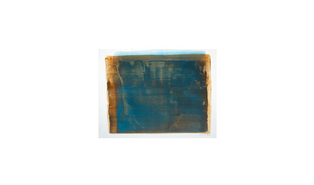 blau, 2015, Pigmente auf Papier, 31x41 | blu, pigmenti su carta, 31x41