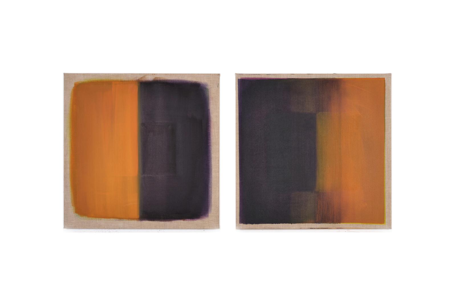 Wechsel, 2018, 2 Tafeln je 60x60 | cambio, 2 tavole cad. 60x60
