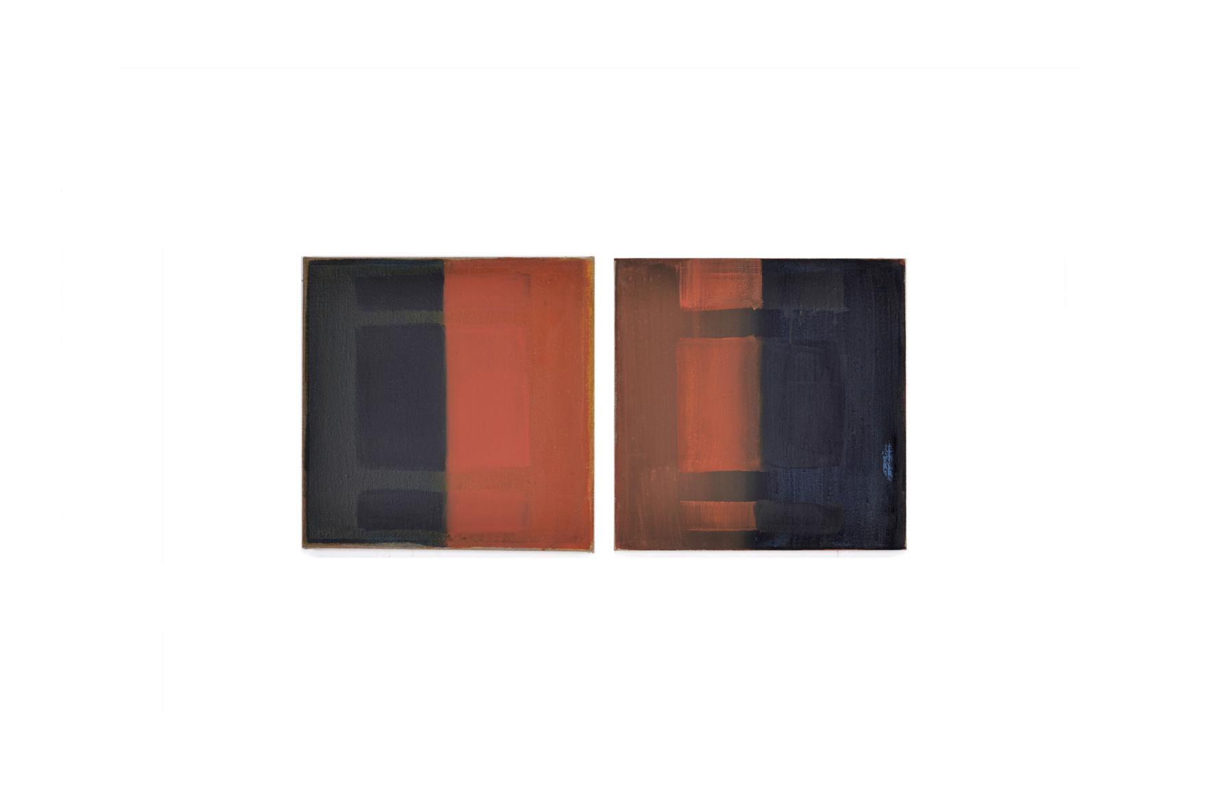 blau-rot, 2017, 35x35 | blu-rosso, 2017, 35x35