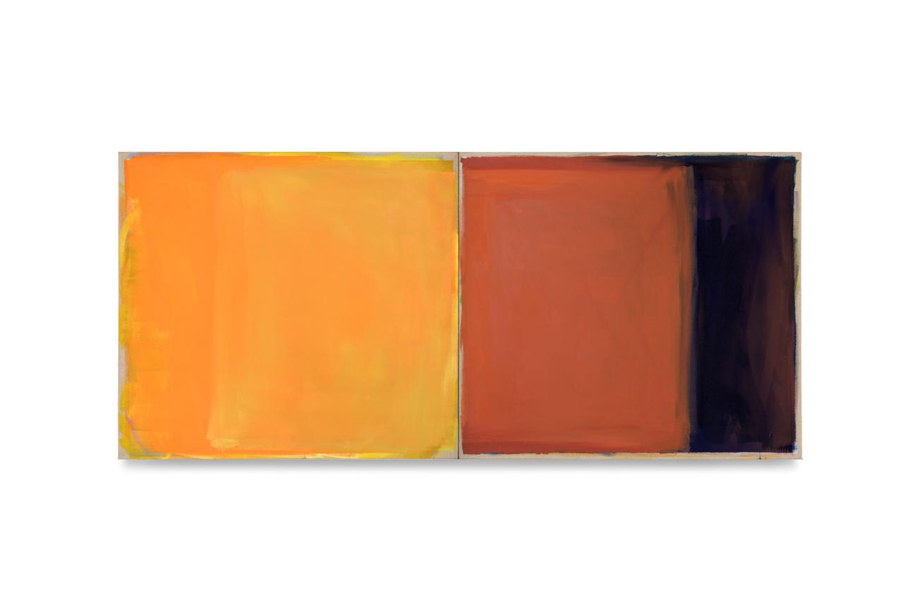 gelb rot blau, 2019, 2 Tafeln je 80x90 | giallo rosso blu, 2 tavole cad. 80x90